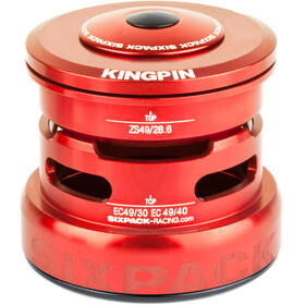 Sixpack Kingpin 2In1 - Jeu de direction - ZS49/28.6 I EC49/30 and ZS49/28.6 I EC49/40 rouge